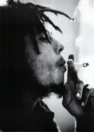 bob marley smoking weed