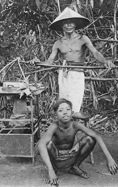 Javanese Food Seller at Djogja - Indonesia, Early 1900`s