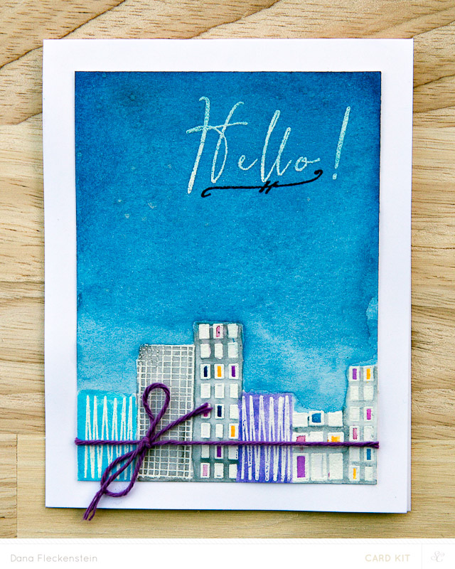 Hello Nightsky card made with Studio Calico Park Ave. card kit by @pixnglue