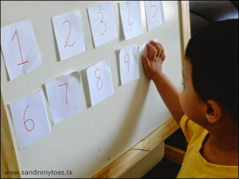 Number learning game