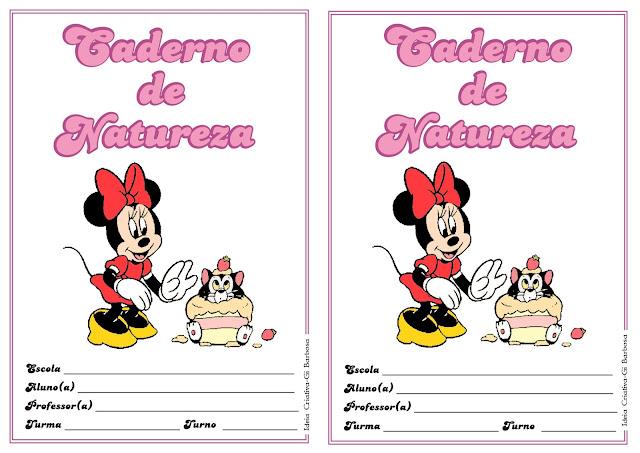 Capas para Caderno Pequeno Minnie