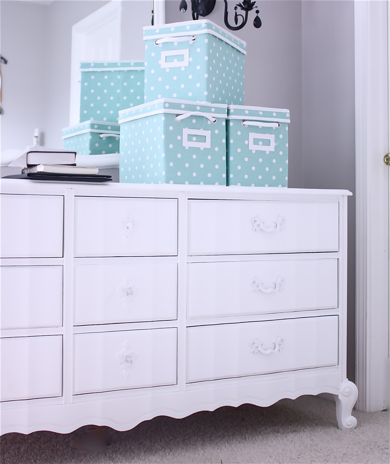 Painting the insides of the dresser is a really great way to take the look  of your finished piece to the next level  It also helps to block odors    old. The Yellow Cape Cod   How To  Dresser Makeover Tutorial And
