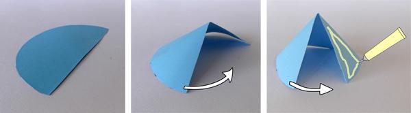 κώνος από χαρτί, χάρτινος κώνος, πώς να φτιάξω έναν κώνο