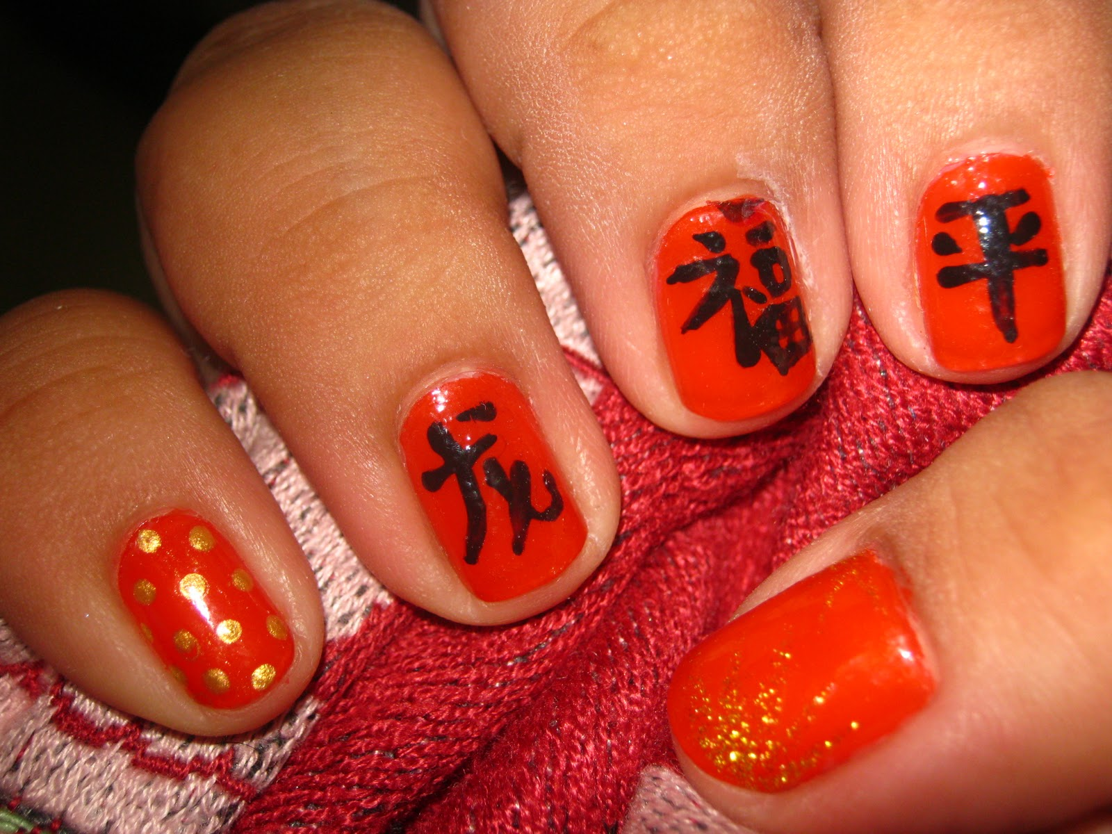Nail Art: Chinese New Year inspired Nails