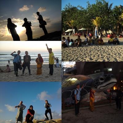 Menunggu sunset di pantai Kuta #BALI 2