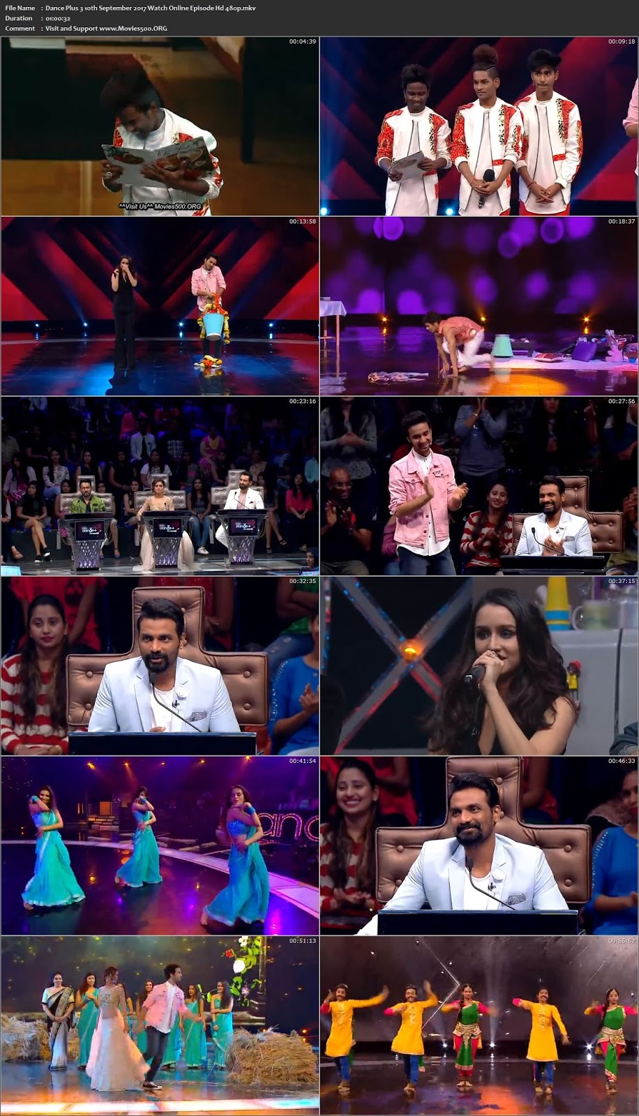Dance Plus Season 3 2017 10th September Download 203MB HDTV 480p at xcharge.net