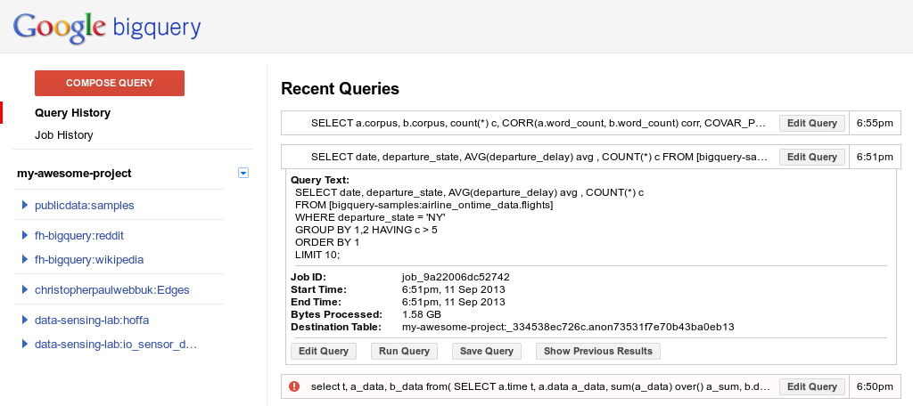 You can now <b>query</b> your history