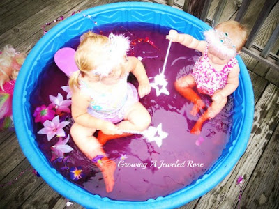 princess sensory pool play activity