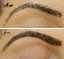 before and after make up for ever eyebrow corrector