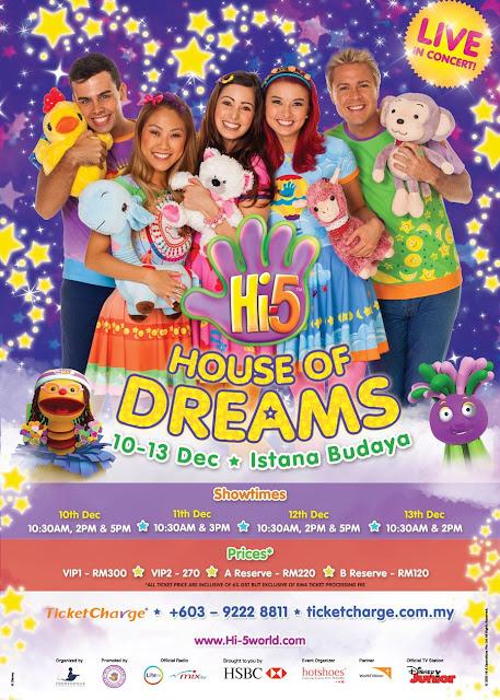 [GIVEAWAY] Mencari 5 Pembaca Bertuah Untuk Menangi Tiket Hi-5 House of Dreams Live in Concert 2015