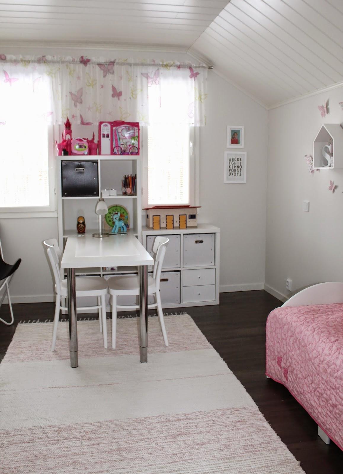Ekaluokkalaisen tytön huone