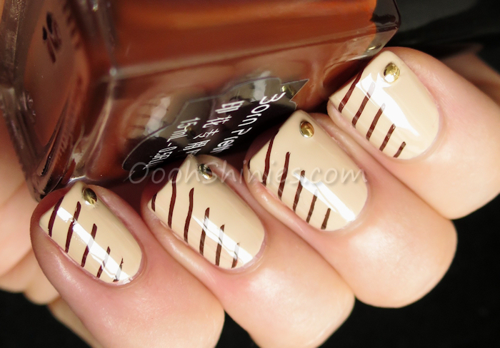 Dance Legend #1031 with BornPrettyStore Newly Sweet Style #19, DRK Nails plate DRK A5 and BornPrettyStore round studs