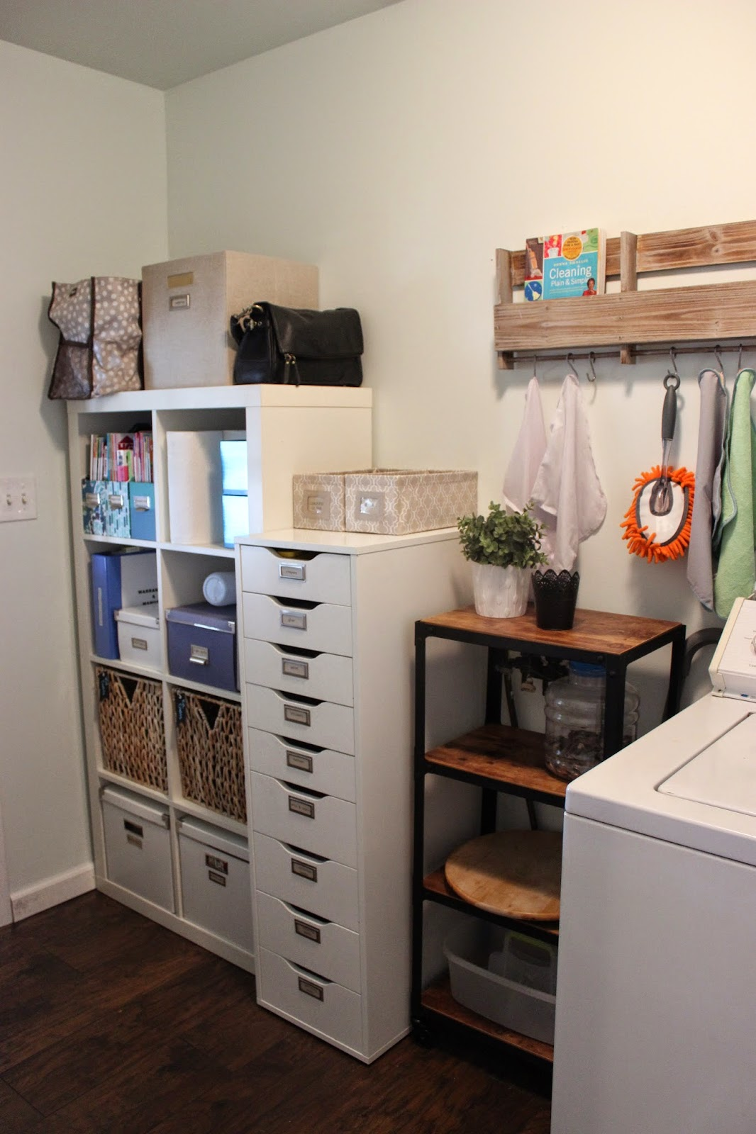 Organizing For Six Organized Laundry Room