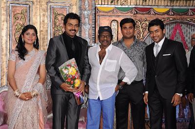 Karthi Wedding Reception Photos gallery