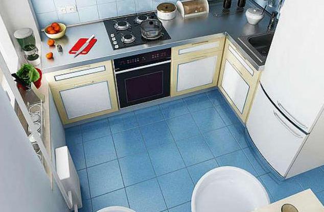 Кухня 5 кв метров хрущевка дизайн с колонкой и холодильником
