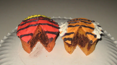 Calvin and Hobbes Themed Cupcakes - View of Inside of Cupcakes