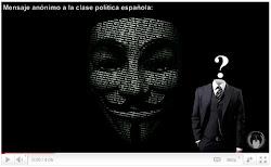 Mensaje Anónimo a la Clase Política Española