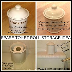 toilet roll storage cookie jar