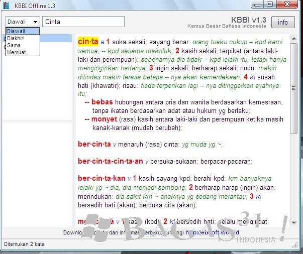 KBBI (Kamus Besar Bahasa Indonesia) Offline 1.3
