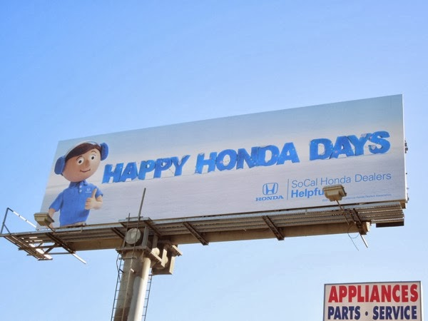 Happy Honda Days billboard 2013