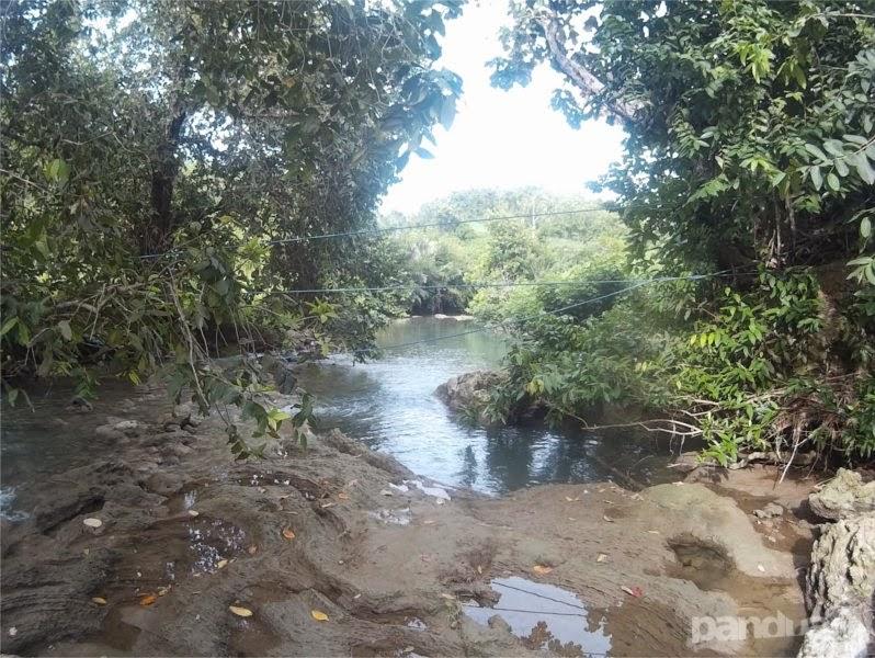 Sungai di dekat pantai pangi