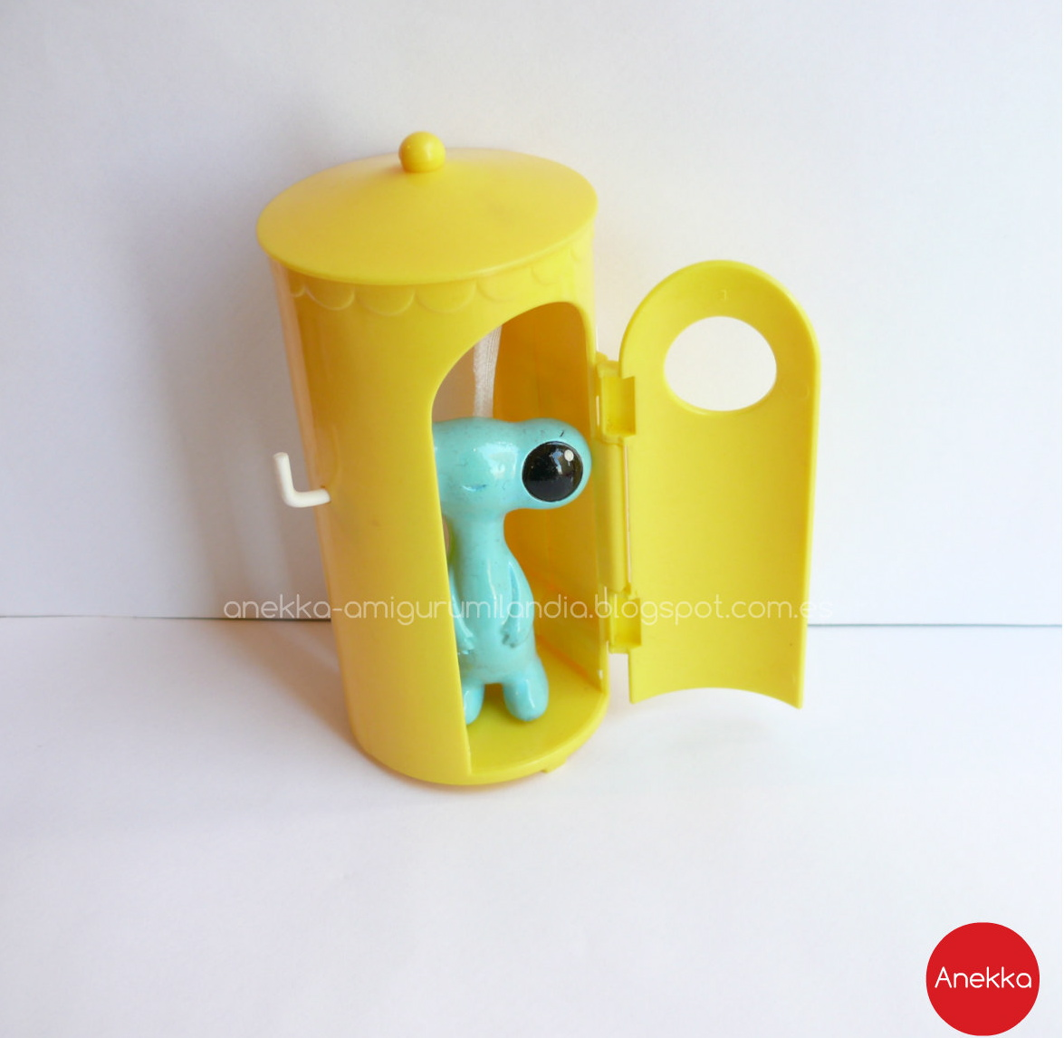 cute little blue monster anekka handmade