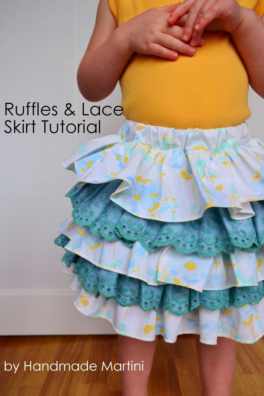 Free tutorial for latered skirt