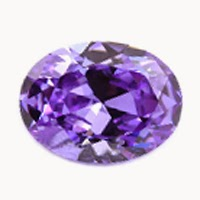 oval violet cz