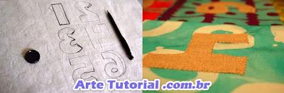 Figuras de tecido feltro molde
