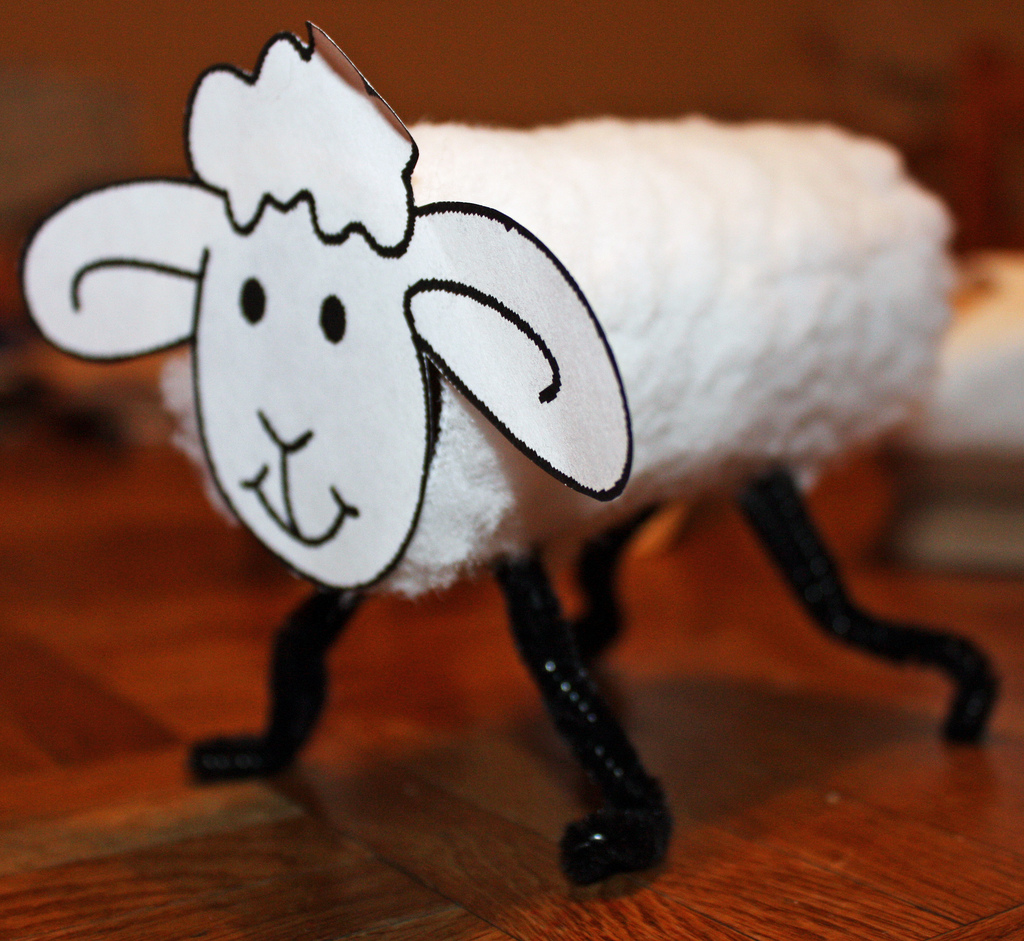 sheep toilet roll craft | preschool education for kids