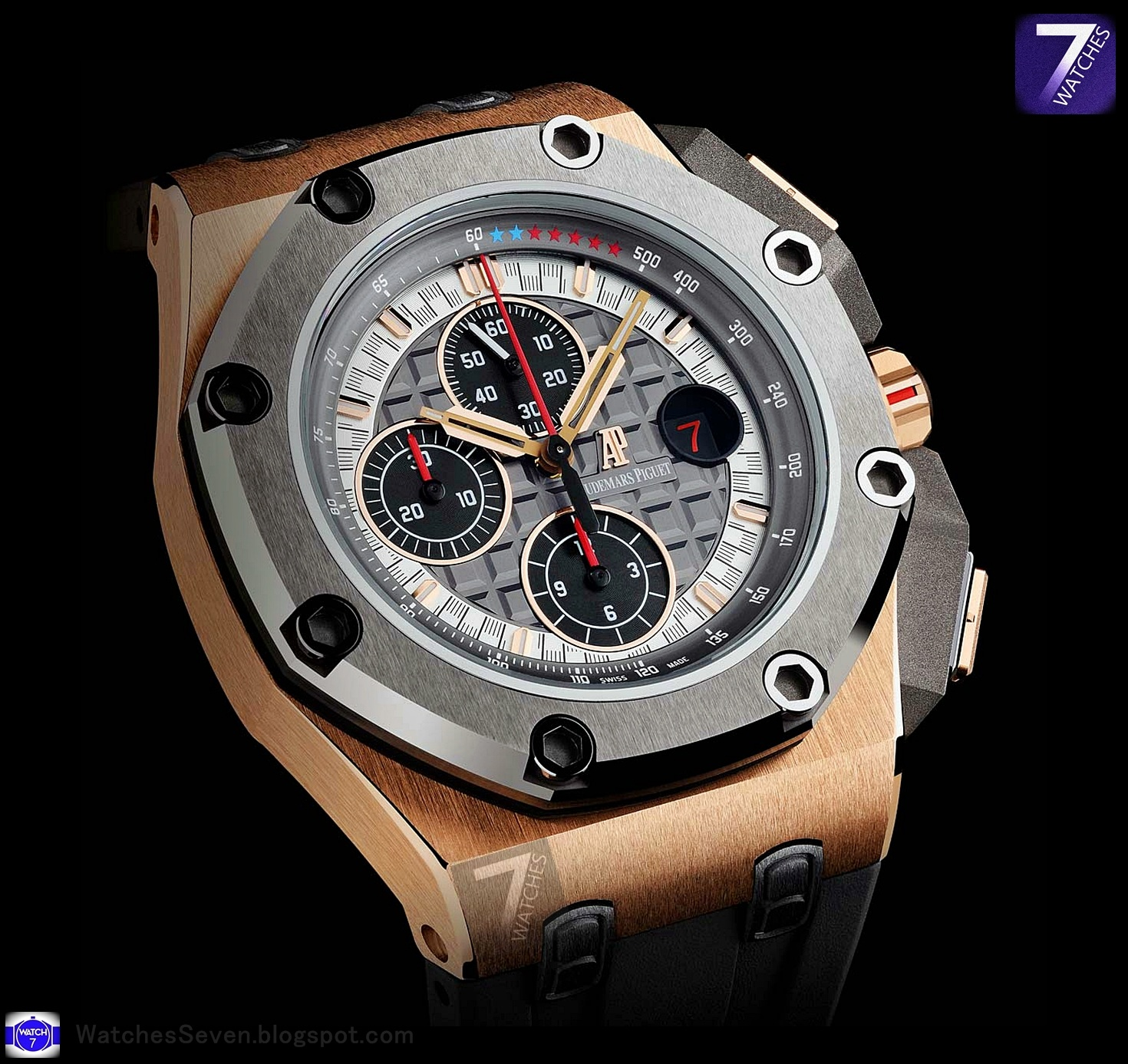 Watches 7 audemars piguet royal oak offshore michael schumacher limited edition for Audemars watches
