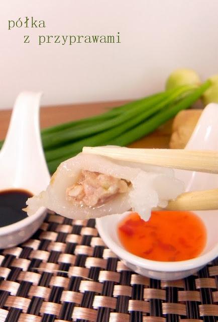 bezglutenowe chinskie pierozki z wieprzowina