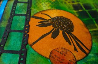 Art journal with Tim Holtz filmstrip die (Marjie Kemper)