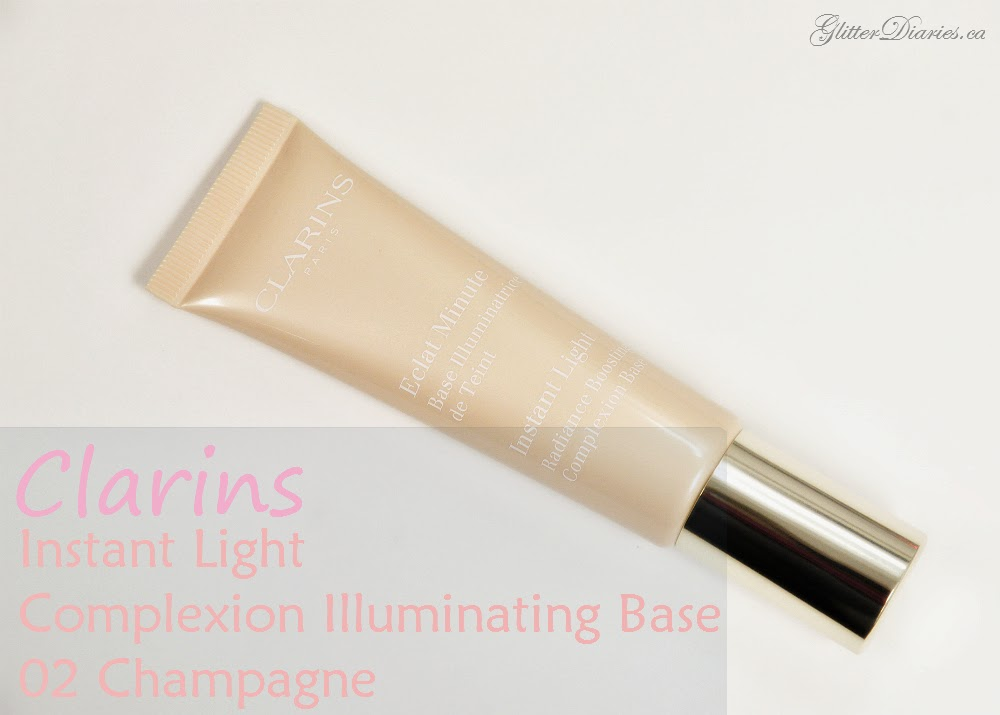 clarins, instant light, instant light complexion illuminating base review, instant light review, clarins review, beauty review, makeup review, canadian blogger, beauty blogger, glitter diaries, toronto makeup artist, swatches, clarins cosmetics