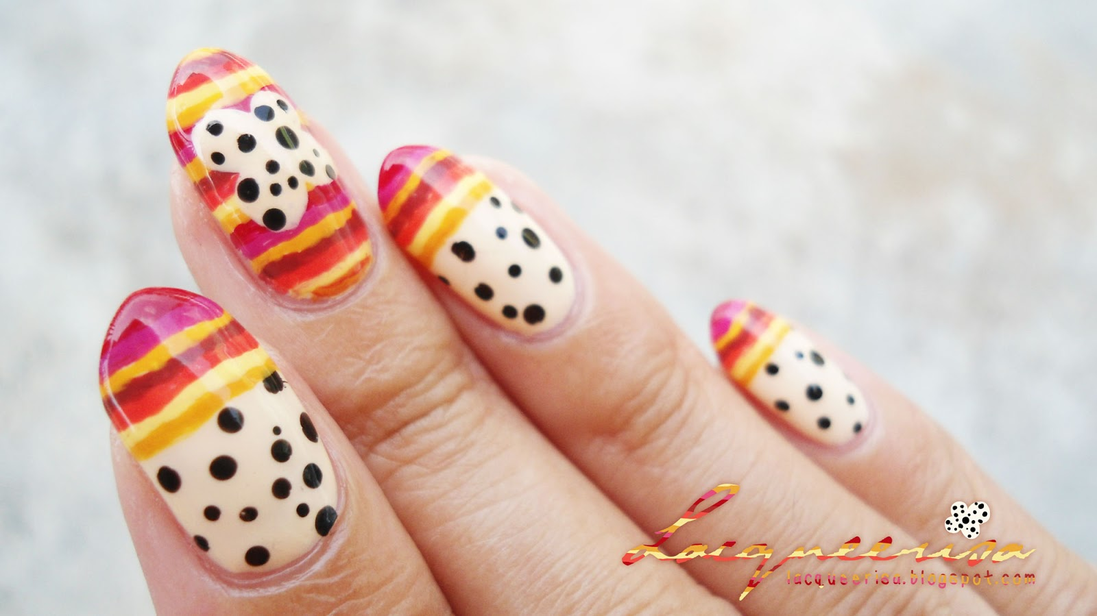 Lacqueerisa: Bright Stripes, Little Spots