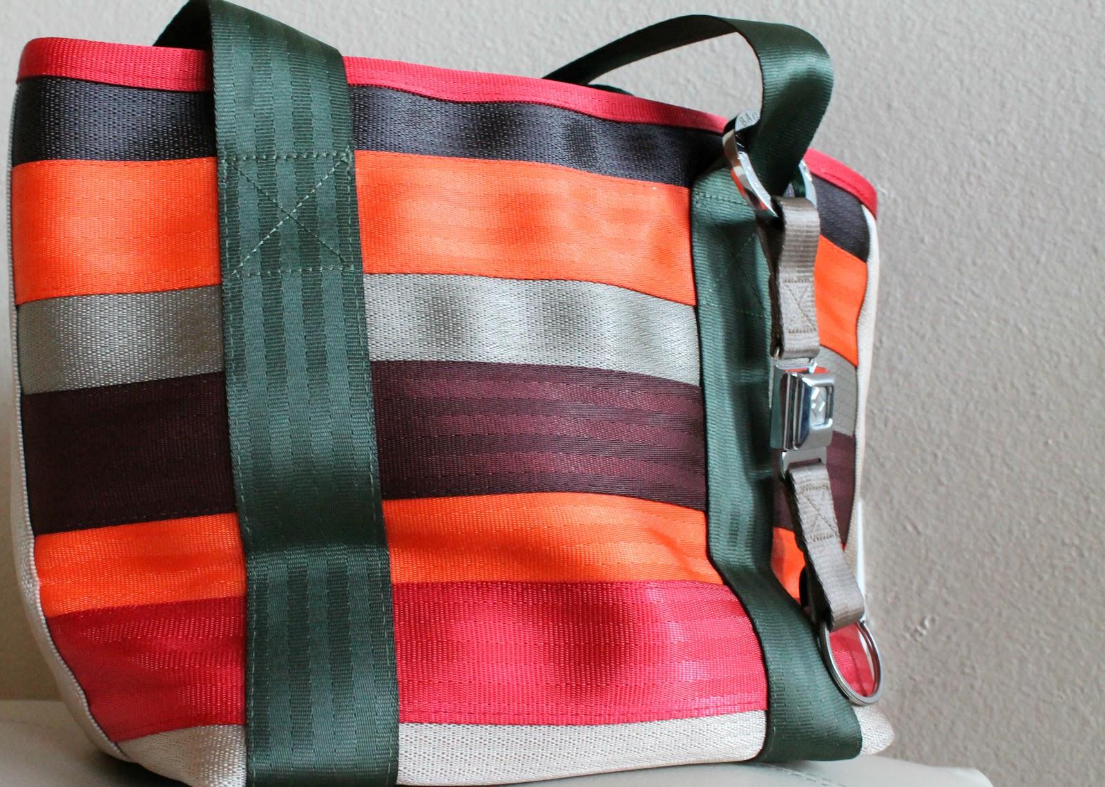 seat belt totes, bags, purses