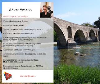 Δήμος Αρταίων: Ανάπτυξη στην πράξη. Δεσμεύσεις που έγιναν έργα