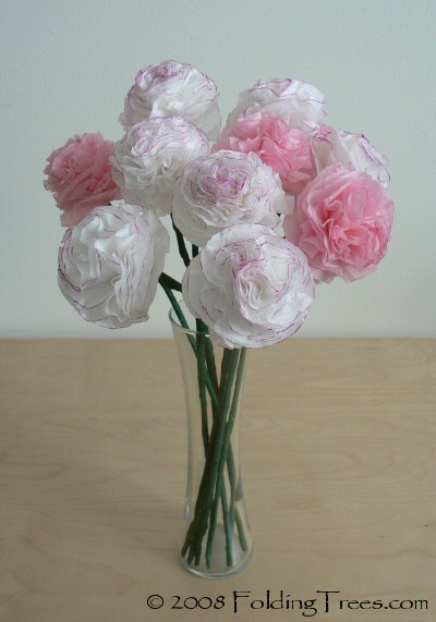 12 gorgeous tissue paper flower tutorials lines across tissue paper carnations from folding trees mightylinksfo