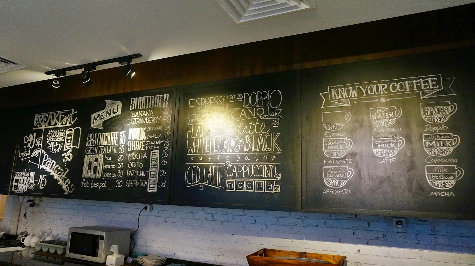 Historica Coffee & Pastry Menu Board