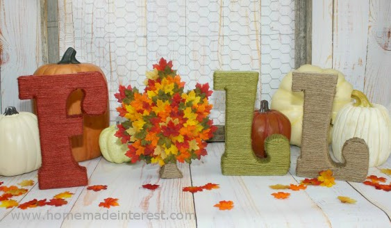Fall Decor Letters