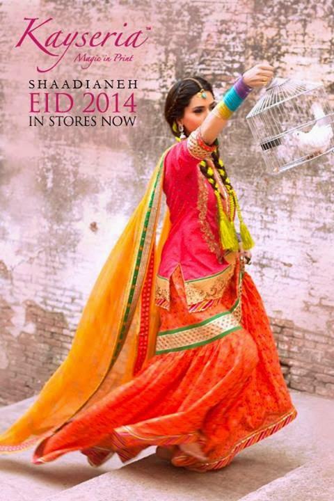 Kayseria Magic in Prints Shaadianeh Eid Collection 2014