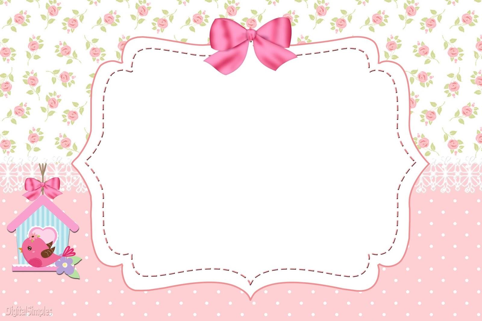 Passarinhos para Meninas para Imprimir  Convites Digitais Si