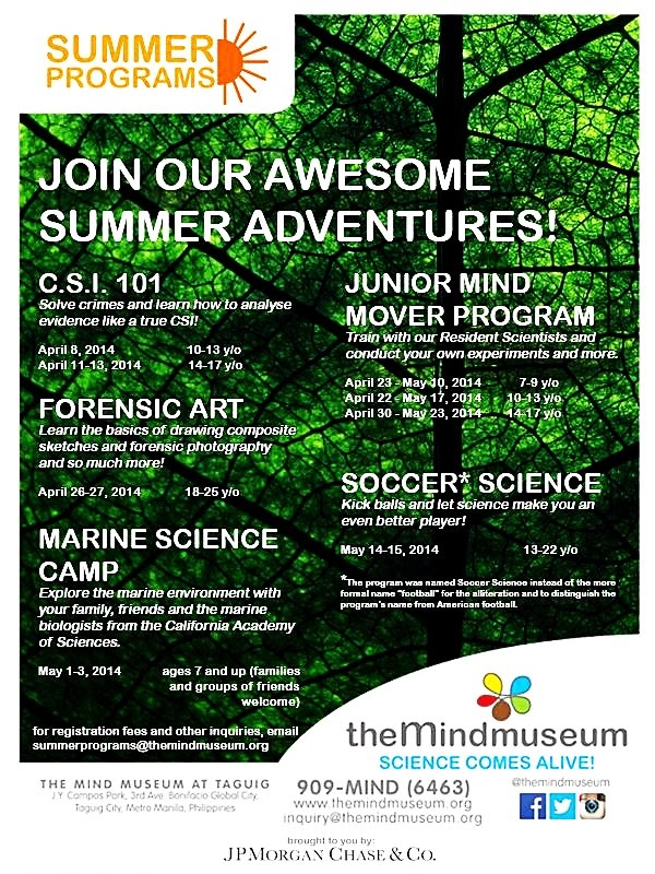 The Mind Museum 2014 Educational Summer Program