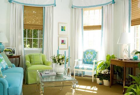 Salas en color turquesa ideas para decorar dise ar y mejorar tu casa - White and blue in interior design an ideal combination ...