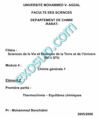 cours chimie générale svt s1