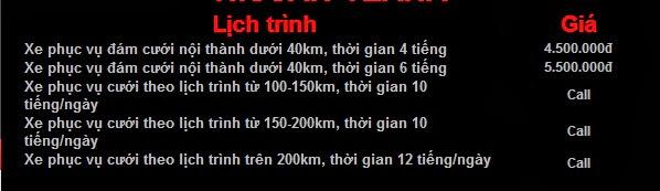 Giá Cho thuê xe cưới màu trắng Nissan Teana