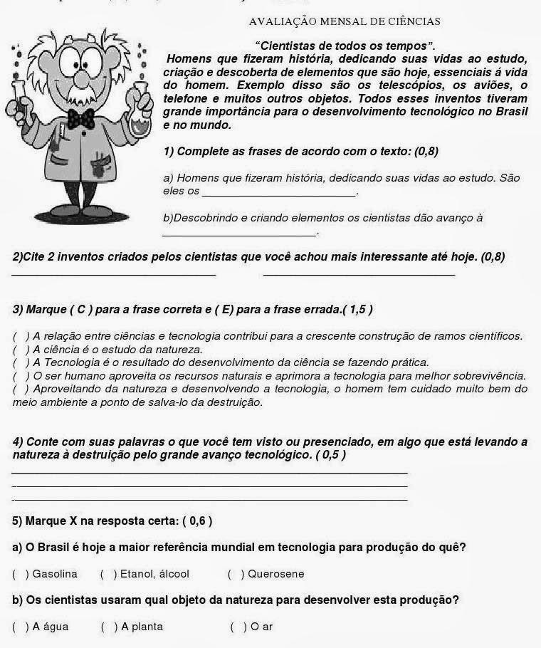 Muitas vezes Blog Professor Zezinho : Atividades 5º Ano Prontas para Imprimir OG65