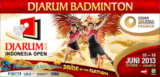 Jadwal Djarum Indonesia Open 2013