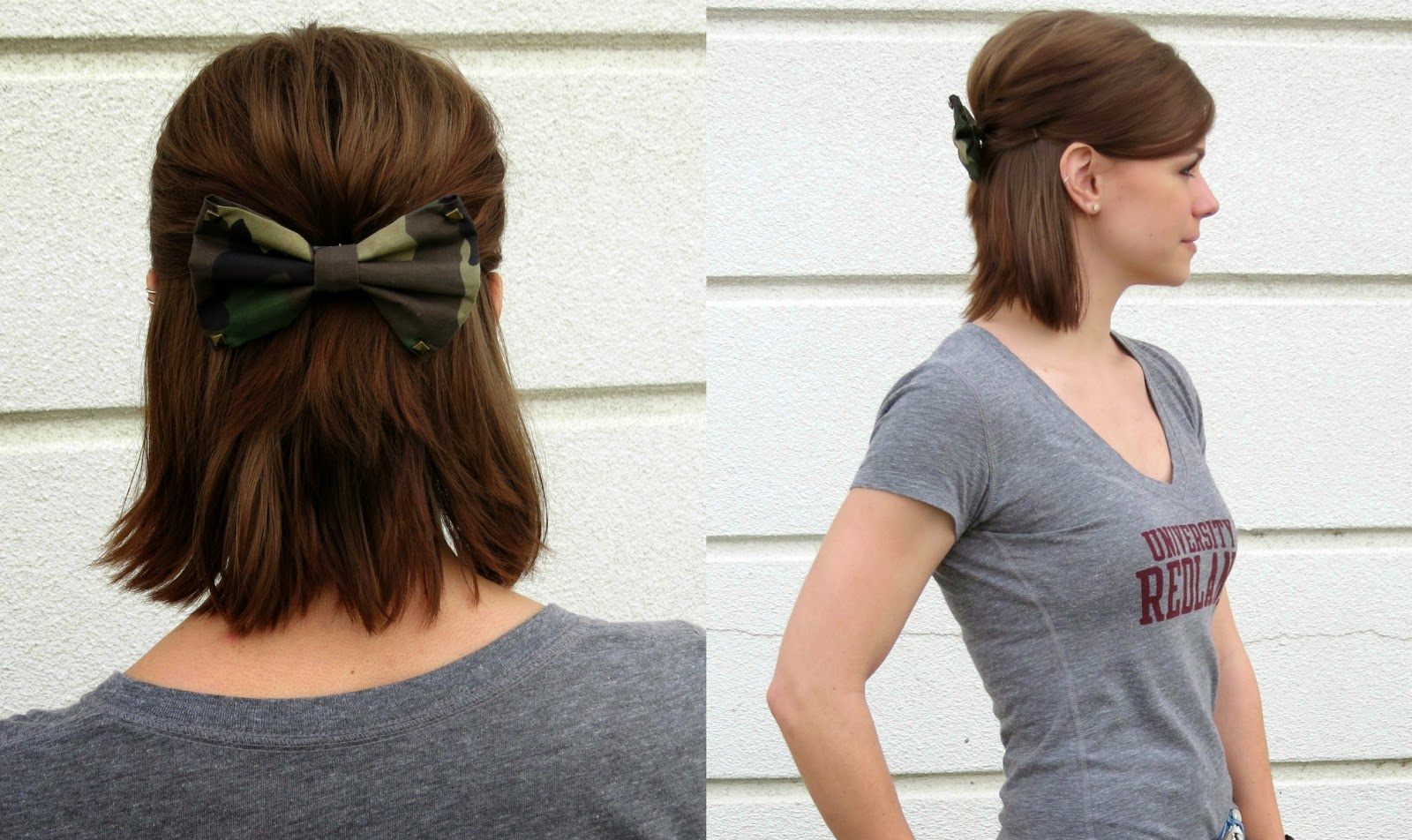 Sporty Casual, Camouflage Print Bow, Bows for Baja