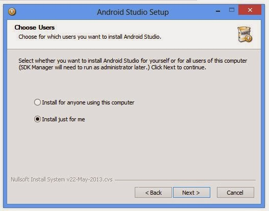 android studio install or not working in windows 7 or 8 fixed